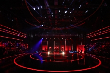FOS fixtures lighting up the studio of The Voice Of Albania